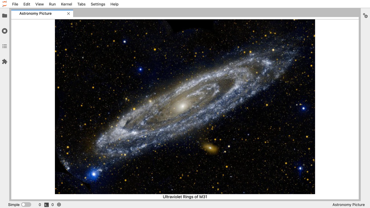 Let's Make an Astronomy Picture of the Day JupyterLab